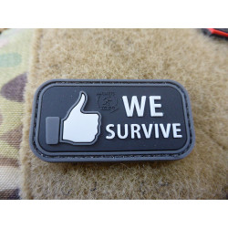 JTG small WE SURVIVE Patch, swat / JTG 3D Rubber Patch