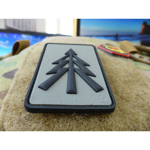 JTG RECCE TREE Patch, steingrau-oliv / JTG 3D Rubber Patch