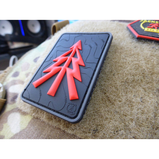 JTG RECCE TREE Patch, black-medic / JTG 3D Rubber Patch