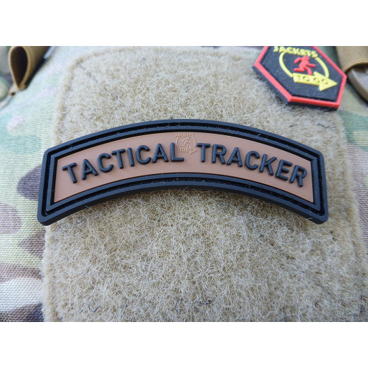 JTG TACTICAL TRACKER Tab Patch, coyote brown black / JTG 3D Rubber Patch