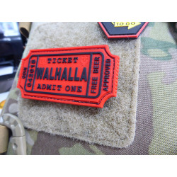 JTG WALHALLA TICKET - Odin approved Patch, red / JTG 3D Rubber Patch