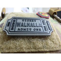 JTG WALHALLA TICKET - Odin approved Patch, steingrau oliv / JTG 3D Rubber Patch