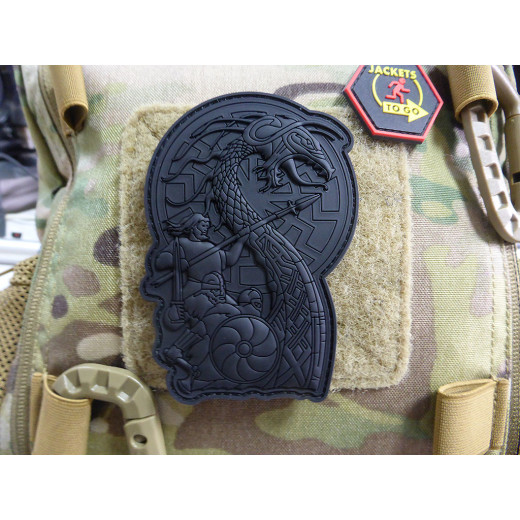 JTG VIKING RISING Patch, full black / limitiert auf 99 Stück limited Edition 2020 / JTG 3D Rubber Patch