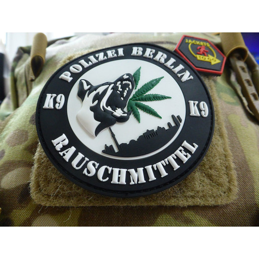 JTG K9 / RG Hund BLN Patch / JTG 3D Rubber Patch, fullcolor, Sammlerpatch