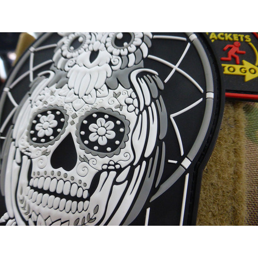 JTG Calavera Owl Dreamcatcher, Traumfänger Patch, nightwhite / JTG 3D Rubber Patch, limitierter (99) Sammlerpatch