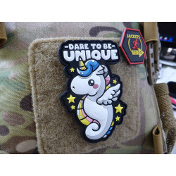 JTG Dare To Be Unique Unicorn Patch, JTG 3D Rubber Patch