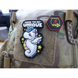 JTG Dare To Be Unique Unicorn Patch, JTG 3D Rubber Patch