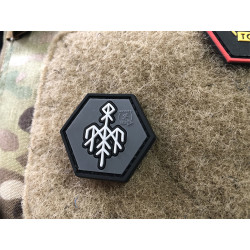 JTG Wardruna Rune, Hexagon Patch / JTG 3D Rubber Patch,...