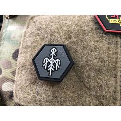 JTG Wardruna Rune, Hexagon Patch / JTG 3D Rubber Patch, HexPatch
