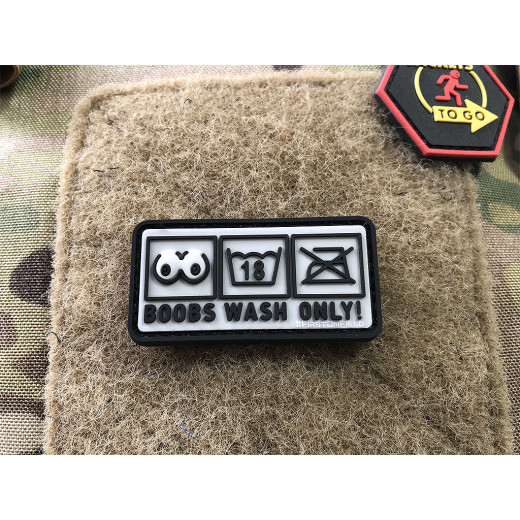 JTG Boobs Wash Only Patch   / JTG 3D Rubber Patch
