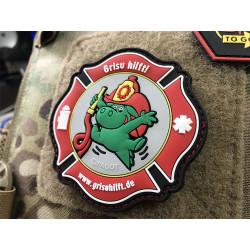 JTG Grisu Hilft, Feuerwehr Charity Patch, fullcolor  /...