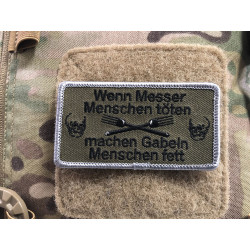 Messer, Gabel ... Patch, gestickter Patch, Sammlerpatch