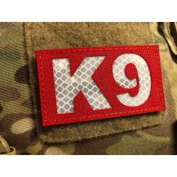 JTG K9 Lasercutpatch, Signalrot, reflektierender K9...