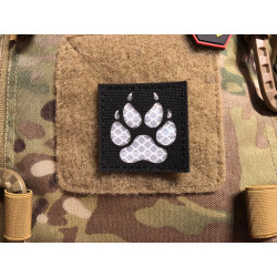 JTG K9 Claw Lasercut reflector patch, black, with velcro...
