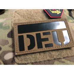JTG Deutschlandflagge - IR / Infrarot Patch mit DEU Länderkennung - Cordura Lasercut, coyote brown, MILSPEC IR TAB, custom made