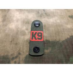 NightStripes, K9, grün mit rotem K9 Logo