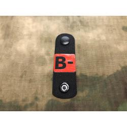 B negativ, Blutgruppen NightStripes, schwarz mit roter...