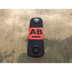 AB negativ, Blutgruppen NightStripes, schwarz mit roter...