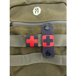 RedCross Medic / IFAK NightStripes, schwarz mit rotem Kreuz, Version 1