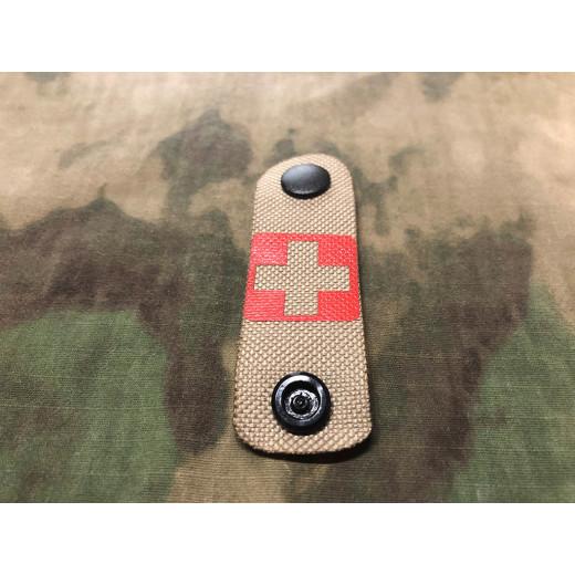 RedCross Medic / IFAK NightStripes, tan mit rotem Kreuz, Version 1