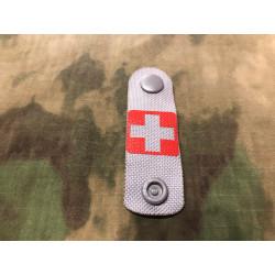 RedCross Medic / IFAK NightStripes, grau mit rotem Kreuz, Version 1