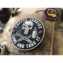 JTG Pirat Punisher Coffee Junkies Patch / JTG 3D Rubber...