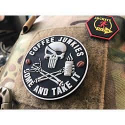 JTG Pirat Punisher Coffee Junkies Patch / JTG 3D Rubber...