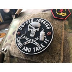 JTG Pirat Punisher Coffee Junkies Patch / JTG 3D Rubber Patch