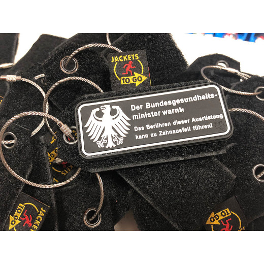 JTG Patch Keyring Tag, black