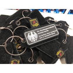JTG Patch Keyring Tag, black