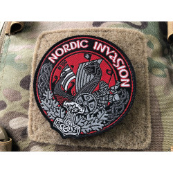 NORDIC INVASION Patch, gewebt, fullcolor
