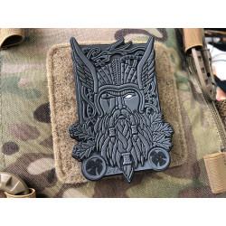Odin Patch, dark grey, 3D PVC Rubber Patch