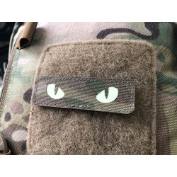 Cat Eyes Lasercut Patch, multicam, gid nachleuchtende...