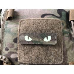 Cat Eyes Lasercut Patch, multicam, gid nachleuchtende...