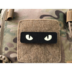 Cat Eyes Lasercut Patch, schwarz, gid nachleuchtende...