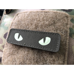 Cat Eyes Lasercut Patch, ranger-green, gid nachleuchtende...