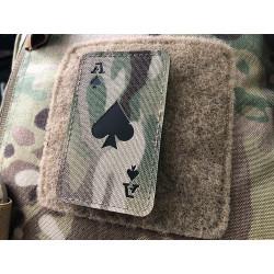 Ace of Spades Lasercut Patch, multicam, Cordura Lasercut