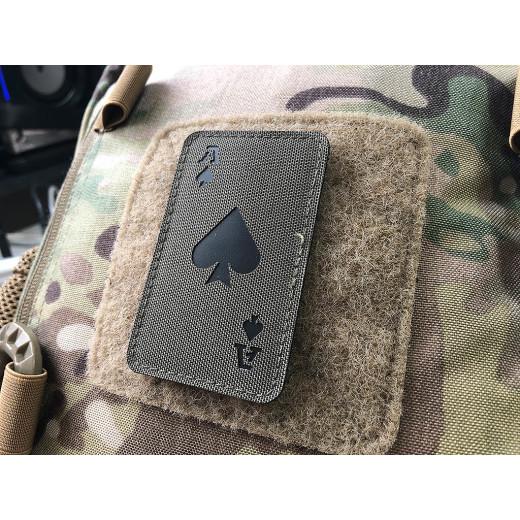 Ace of Spades Lasercut Patch, ranger-green, Cordura Lasercut