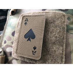 Ace of Spades Lasercut Patch, Coyote, Cordura Lasercut