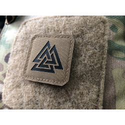 Valknut Lasercut Patch, Coyote, Cordura Lasercut
