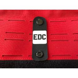 EDC NightStripes, schwarz mit nachleuchtendem Logo,...