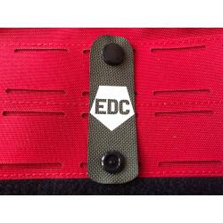 EDC NightStripes, oliv mit nachleuchtendem Logo, Version one