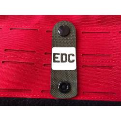 EDC NightStripes, oliv mit nachleuchtendem Logo, Version two