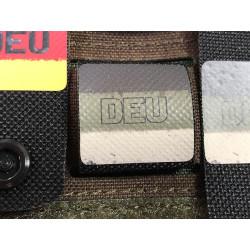 DEU Deutschland Flage, urban vintage, NightStripes, schwarz mit farbigem Logo