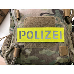 JTG POLIZEI Lasercut Patch, 150 x 45mm, signalgelb,...