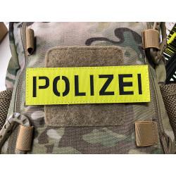 JTG POLIZEI Lasercut Patch, 150 x 45mm, signalgelb, IR...