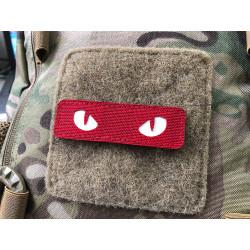 Cat Eyes Lasercut Patch, rot-weiss  / Cordura Lasercut