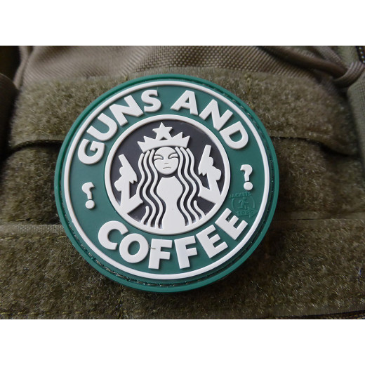 JTG Guns and Coffee Patch, fullcolor / 3D Rubber patch