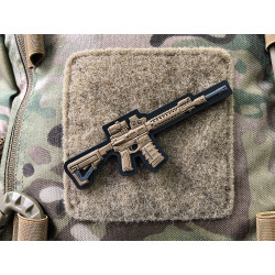 AR-15 Patch, coyote, 3d Rubber Patch