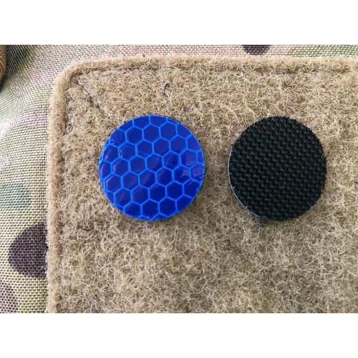 JTG GoFlex POINT Patch, blau matt, stark reflektierend, Lasercut mit Klettrückseite